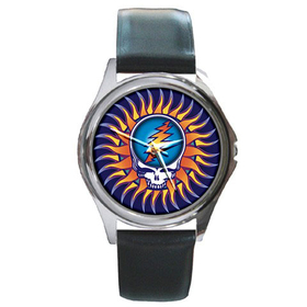 Silver-Tone Watch : Grateful Dead - Steal Your Face - Sun