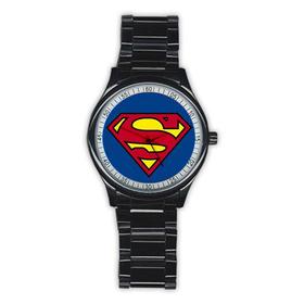 Casual Black Watch : Superman Shield