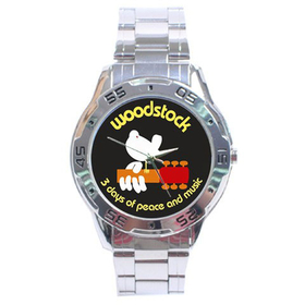 Chrome Dial Watch : Woodstock - 3 Days of Peace and Music