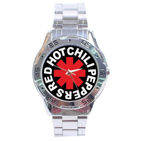 Chrome Dial Watch : Red Hot Chili Peppers - RHCP