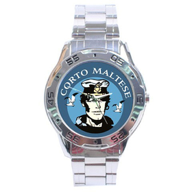 Chrome Dial Watch : Corto Maltese