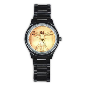 Casual Black Watch : Leonardo da Vinci - Vitruvian Man