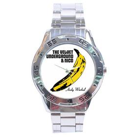 Chrome Dial Watch : Velvet Underground & Nico - Banana - Andy Warhol