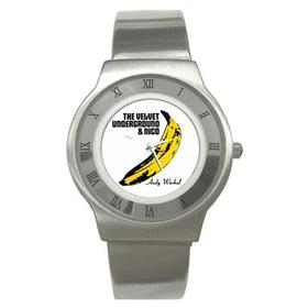 Roman Dial Watch : Velvet Underground & Nico - Banana - Andy Warhol