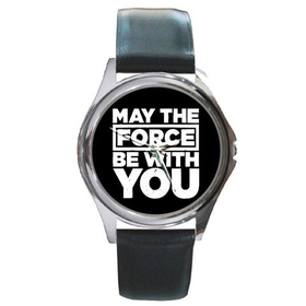 Silver-Tone Watch : May The Force Be With You - Star Wars