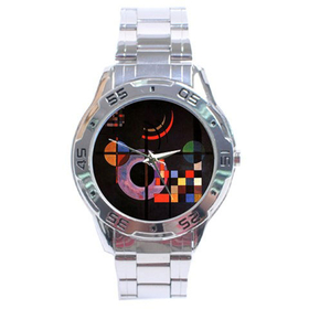 Chrome Dial Watch : Wassily Kandinsky - Gravitation