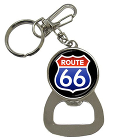 Bottle Opener Keychain : Route 66