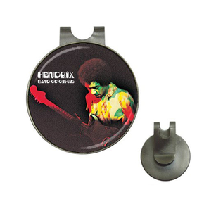 Golf Hat Clip with Ball Marker : Jimi Hendrix - Band of Gypsys
