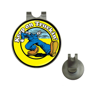 Golf Hat Clip with Ball Marker : Keep on Truckin'