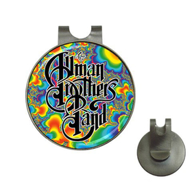 Golf Hat Clip with Ball Marker : Allman Brothers Band - Fractal