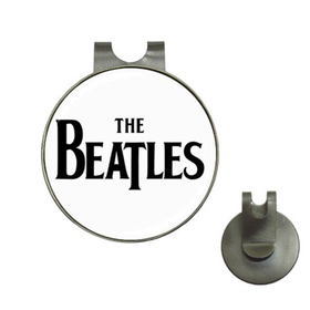 Golf Hat Clip with Ball Marker :  Beatles (white-black)