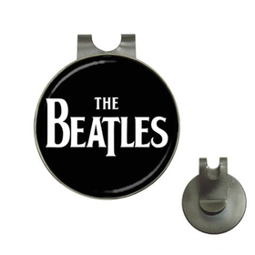 Golf Hat Clip with Ball Marker :  Beatles (black-white)