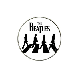 Golf Ball Marker : The Beatles - Abbey Road (white-black)