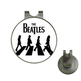 Golf Hat Clip with Ball Marker : The Beatles - Abbey Road (white-black)