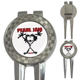 Golf Divot Repair Tool : Pearl Jam - Stickman - Alive (white-black)