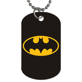 Dog Tag Necklace : Batman Shield
