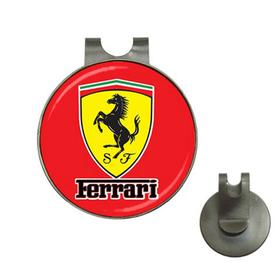 Golf Hat Clip with Ball Marker : Ferrari