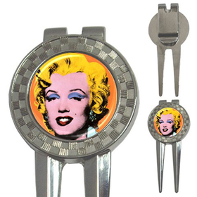 Golf Divot Repair Tool : Marilyn Monroe by Andy Warhol