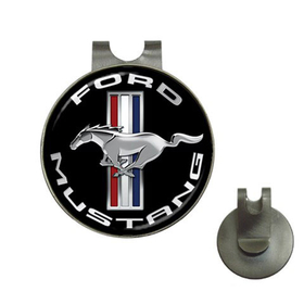 Golf Hat Clip with Ball Marker : Ford Mustang