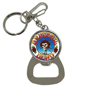 Bottle Opener Keychain : Grateful Dead - Skull & Roses