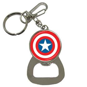 Bottle Opener Keychain : Captain America Shield