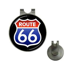 Golf Hat Clip with Ball Marker : Route 66