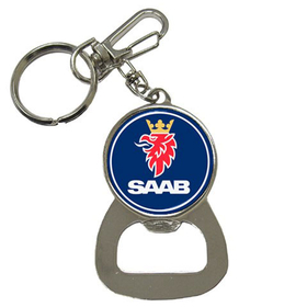 Bottle Opener Keychain : Saab