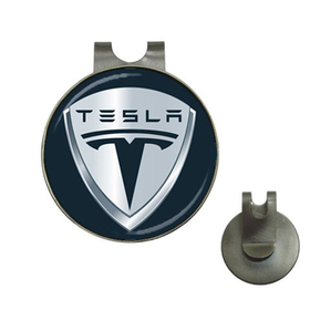 Golf Hat Clip with Ball Marker : Tesla