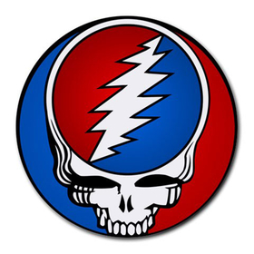 Mousepad (Round) : Grateful Dead - Steal Your Face