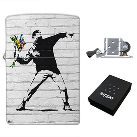 Lighter : Banksy - Flower Bomber