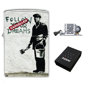 Lighter : Banksy - Follow Your Dreams - Cancelled
