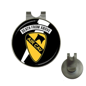 Golf Hat Clip with Ball Marker : Air Cavalry - Death From Above