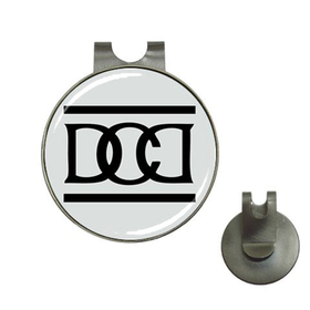 Golf Hat Clip with Ball Marker :  Dead Can Dance (grey-black)