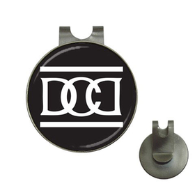 Golf Hat Clip with Ball Marker :  Dead Can Dance (black-white)