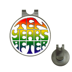 Golf Hat Clip with Ball Marker : Ten Years After (white)