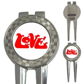 Golf Divot Repair Tool : Love (white)