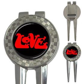 Golf Divot Repair Tool : Love (black)