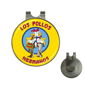 Golf Hat Clip with Ball Marker : Breaking Bad - Los Pollos Hermanos