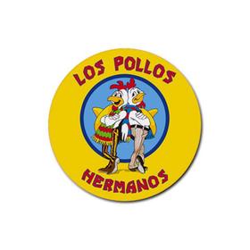 Coasters (4 Pack - Round) : Breaking Bad - Los Pollos Hermanos